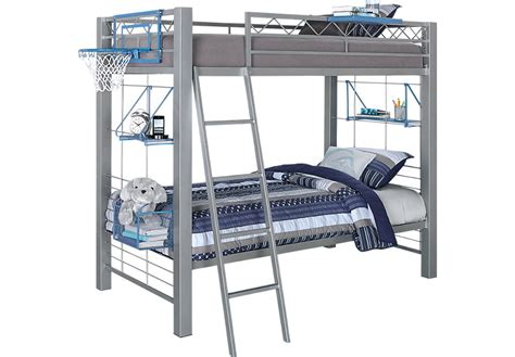 Futon Bunkbeds by Build A Bunk Gray 3 Pc Bunk Bed Bunk Loft Beds