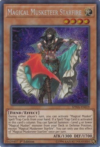 Yugioh Magical Secret magical musketeer starfire spwa en019 secret 1st edition yu gi oh singles 187 spirit