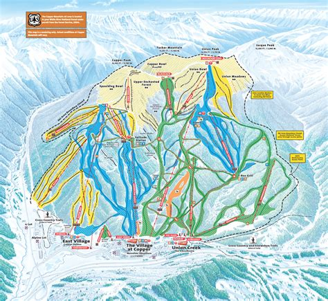 copper trail map copper mountain piste map trail map high res