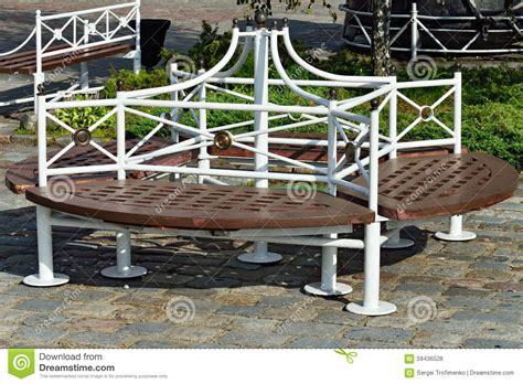 round outdoor bench round outdoor bench stock photo image 59436528