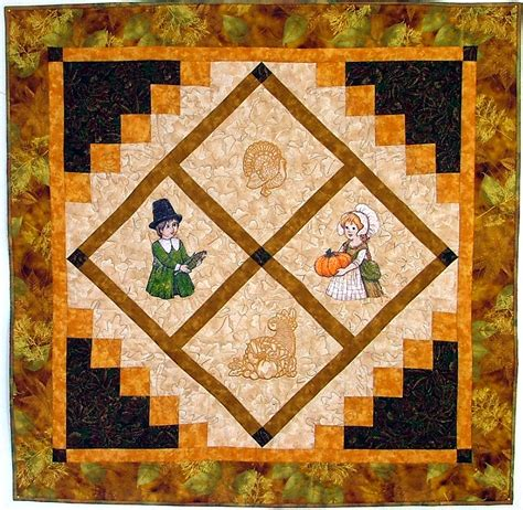 Advanced Embroidery Designs Free Projects And Ideas - thanksgiving wall quilt advanced embroidery designs