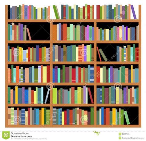 isolated bookshelf stock vector illustration of