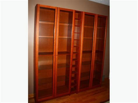 Wall Bookcases With Doors Ikea Billy Book Shelves Wall Unit With Glass Doors