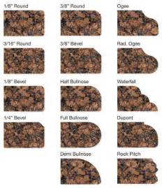 granite countertop choices residential edging options