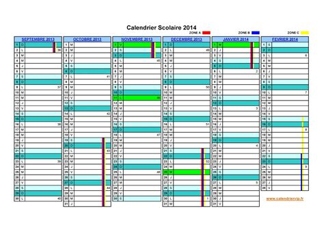 Calendrier Cepeo Calendrier Scolaire 2013 Xls Clrdrs