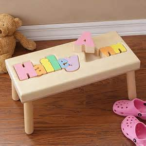 personalized name puzzle stool small gifts