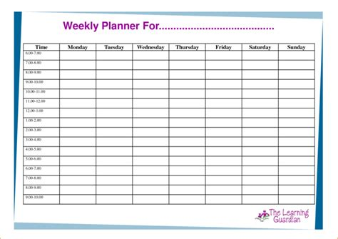 student planner template easy to use weekly task planner template sles vlashed