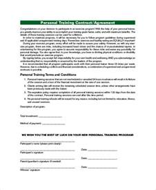 exercise contract template agreement contract sle 9 exles in word pdf