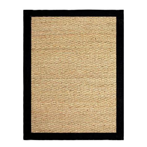 home depot seagrass rug chesapeake merchandising seagrass black 3 ft 4 in x 5 ft indoor area rug 11760 the home depot