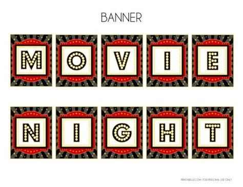 Ideas For My Backyard 58 Best Movie Night Printables Images On Pinterest Movie