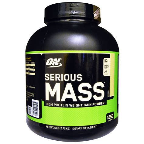 z mass supplement optimum nutrition serious mass vanilla 6 lb 2 72 kg