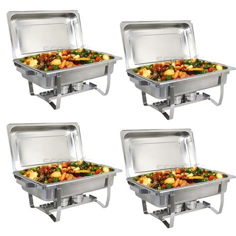 pack catering stainless steel chafer chafing dish sets