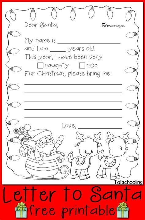 letter to santa template colour in 17 best images about kindergarten christmas activities on