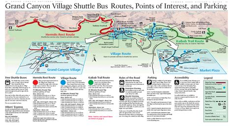 grand map park grand shuttle map grand canyonn national park