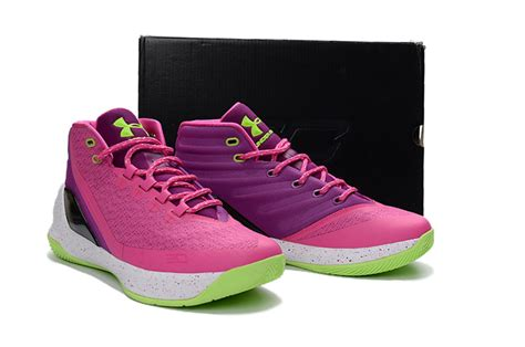 pink armour basketball shoes armour curry 3 pink purple volt basketball shoes