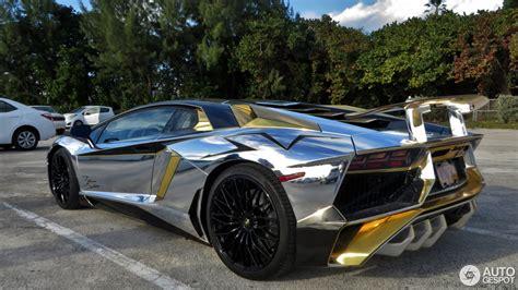 silver and gold lamborghini lamborghini aventador lp750 4 superveloce 26 januar 2016