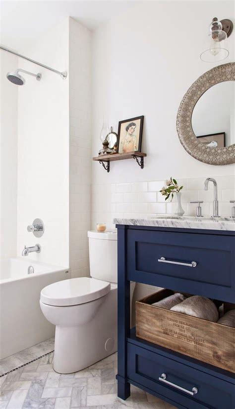 Navy Bathroom Vanity 6th Design School Feature Friday The House Diaries Navy Bathroom Vanity In A White