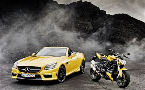 mercedes moto mercedes slk amg ducati streetfighter wallpaper hd