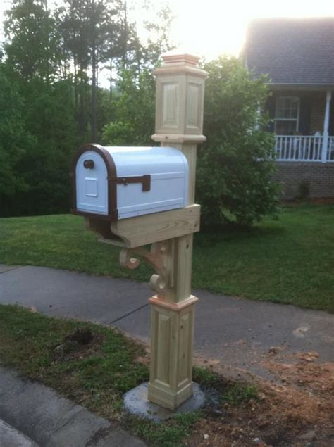 Handmade Mailbox - custom mailbox post wood working custom