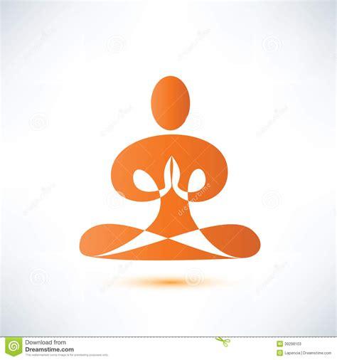meditacin meditation la 8499081495 yoga s 237 mbolo de la meditaci 243 n ilustraci 243 n del vector imagen 39298103