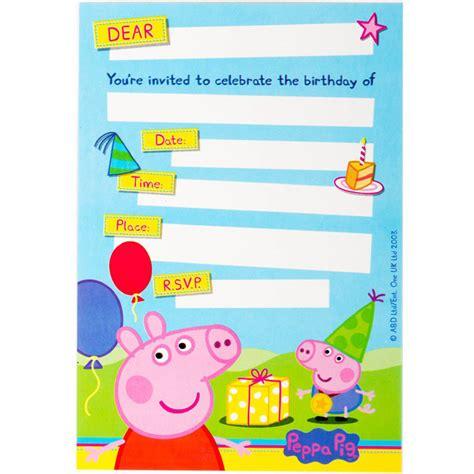 Create Peppa Pig Birthday Invitations Free Ideas Peppa Pig Invitation Template