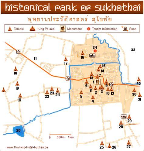 sukhothai historical park map sukhothai touristik hotel information 2000 thailand hotels