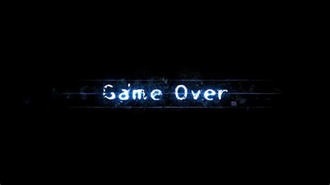 game wallpaper design game over light minimalistic typography wallpaper