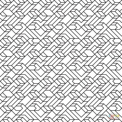 pattern lines design v1 line tiled pattern coloring page free printable