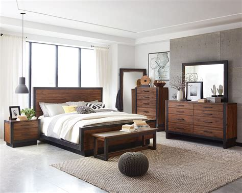 modern rustic bedroom furniture scott living ellison 205241 rustic modern industrial