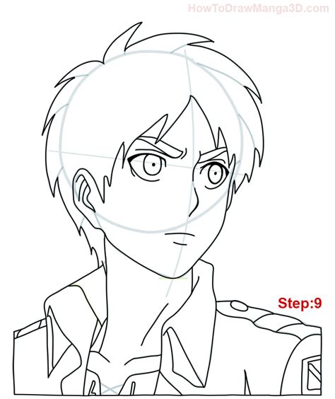 Attack On Titan 09 how to draw eren from attack on titan mangajam