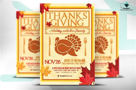 Thanksgiving Card Template Psd by Thanksgiving Psd Flyer Flyer Templates