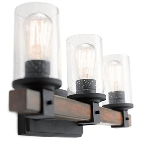 kichler bathroom lights kichler lighting 3 light barrington distressed black and