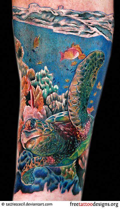 sea sleeve tattoo designs turtle tattoos polynesian and hawaiian tribal turtle designs