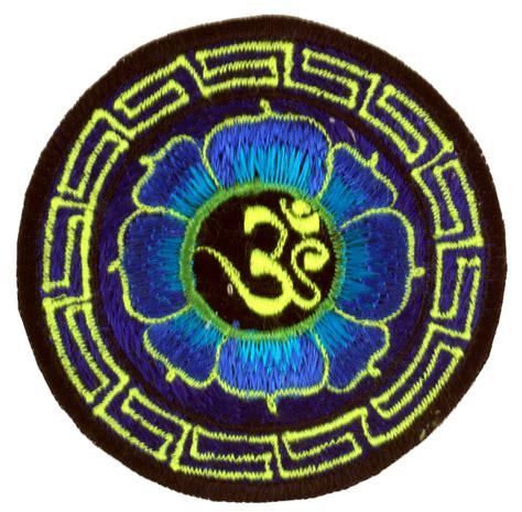 Aufnäher Patches Shop by Om Im Lotus Aufn 228 Her Blau Aufn 228 Her Patches Accessoires
