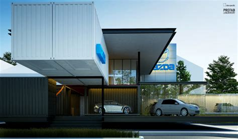 mazda car dealership modular mazda shipping container car dealership to be