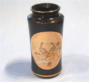 japanese chokin vase black sold collectable china