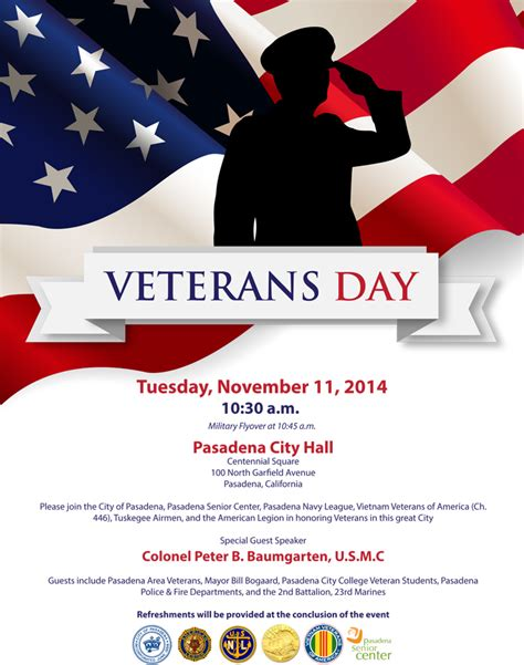 Veterans Day 2014 Closures Public Invited To Special Ceremony Nov 11 2014 Office Of The Veterans Day Program Template