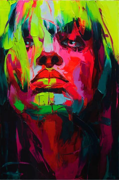 colorful paint painting portrait image 106544 on favim