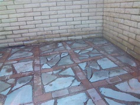 Concrete Pieces Patio broken concrete and brick this would be cool if somebody