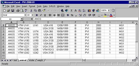 Testing Beef Cattle For Net Feed Efficiency Standards Manual Cattle Management Excel Template