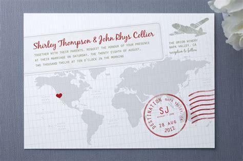 wedding invitations destination a faraway destination wedding invitations invitation crush