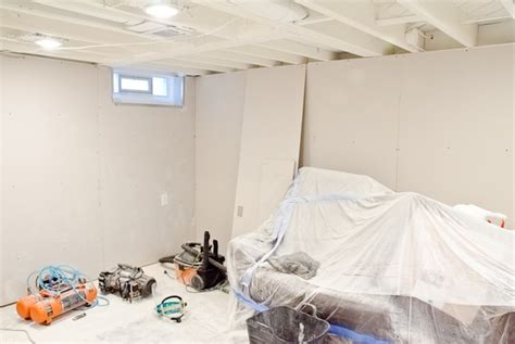 Painting A Ceiling White by White Painted Ceilings And Drywall In The Basement The