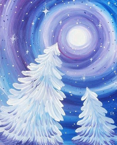 paint nite west island paint nite dreamy winter