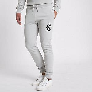 Embroidered Slim Fit Jogger mens tracksuits mens tracksuit river island