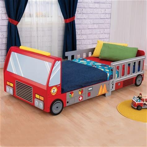 kidkraft firetruck toddler bed firetruck toddler bed 76021 by kidkraft kids beds at