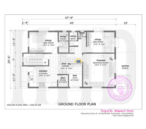 House Plans 2000 Sq Ft maharashtra house design with plan kerala home design