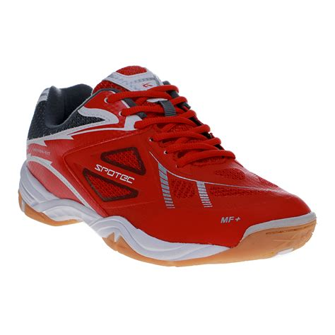 penawaran bagus spotec immortal sepatu badminton merah