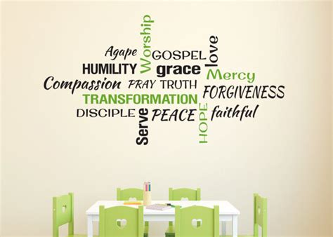 word for room youth room church religious christian word collage subway