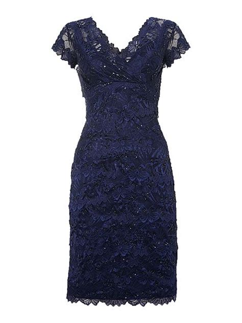 2 Die 4 Tiered Lace Dress by Shubette Lace Tiered Beaded Dress Navy House Of Fraser