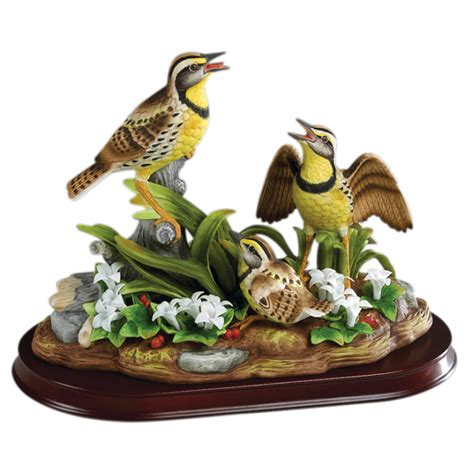 bird figures andrea by sadek meadowlark family bird figurine 63 99